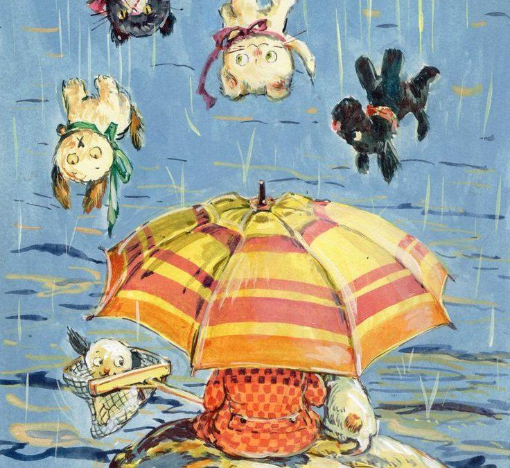 どしゃぶりの雨って、何て言う?